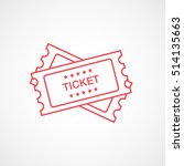 ticket red line icon on white... | Shutterstock .eps vector #514135663