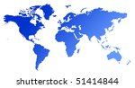 blue gradient map of world or... | Shutterstock . vector #51414844