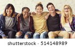 diversity students friends... | Shutterstock . vector #514148989