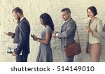 business people using device... | Shutterstock . vector #514149010