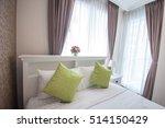 beautiful bedroom interior | Shutterstock . vector #514150429