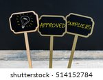 concept message approved... | Shutterstock . vector #514152784