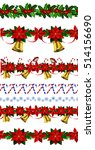 set of n seamless christmas... | Shutterstock .eps vector #514156690