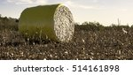 wrapped cotton bale to the left ... | Shutterstock . vector #514161898