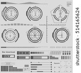 set black and white infographic ...