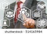 businessman presses cost... | Shutterstock . vector #514165984