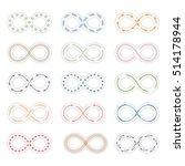 set of infinity symbols | Shutterstock . vector #514178944