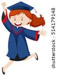 woman in blue graduation gown... | Shutterstock .eps vector #514179148