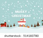 merry christmas and happy... | Shutterstock .eps vector #514183780