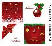 set of christmas brochures... | Shutterstock .eps vector #514185640