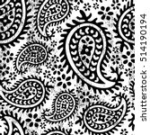 boho style paisley floral... | Shutterstock .eps vector #514190194