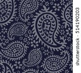 boho style paisley floral...   Shutterstock .eps vector #514190203