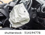 Small photo of Airbag exploded at a car accident
