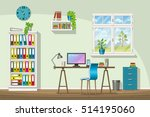illustration of interior... | Shutterstock .eps vector #514195060
