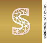 laser cut monogram initial...   Shutterstock .eps vector #514198204