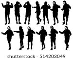 danser men in rap style on... | Shutterstock . vector #514203049