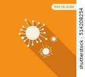 molecule vector icon on orange...