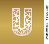 laser cut monogram initial... | Shutterstock .eps vector #514213384