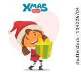cheerful child. winter...   Shutterstock .eps vector #514226704