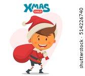cheerful child. winter...   Shutterstock .eps vector #514226740