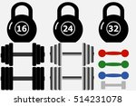 a set of sports items  weights  ... | Shutterstock .eps vector #514231078