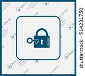 lock and key vector icon. | Shutterstock .eps vector #514231750