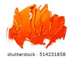 orange oil paint spot on a... | Shutterstock . vector #514231858