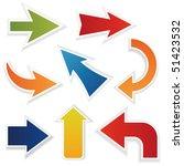 vector arrows | Shutterstock .eps vector #51423532