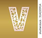mosaic vector capital letter v. ... | Shutterstock .eps vector #514235914