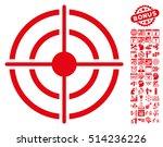 target pictograph with bonus... | Shutterstock .eps vector #514236226