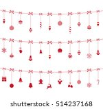 christmas red ornaments hanging ... | Shutterstock .eps vector #514237168