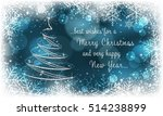 christmas postcard. new year... | Shutterstock .eps vector #514238899