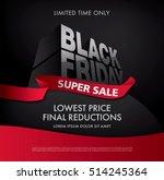 black friday sale banner | Shutterstock .eps vector #514245364