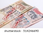 india canceled banknote. india... | Shutterstock . vector #514246690