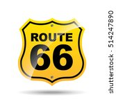 road sign route 66 icon vector... | Shutterstock .eps vector #514247890