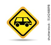 traffic sign concept icon van...