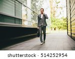 young businessman going to work ... | Shutterstock . vector #514252954
