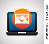 laptop icon image social media...   Shutterstock .eps vector #514253530