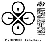 fly drone icon with bonus... | Shutterstock .eps vector #514256176