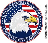 american eagle with usa flags | Shutterstock .eps vector #514261336