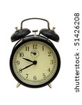 an old fashioned clock on a...   Shutterstock . vector #51426208