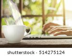 white hot coffee cup with... | Shutterstock . vector #514275124