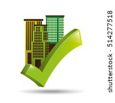 ecology concept with buildings... | Shutterstock .eps vector #514277518