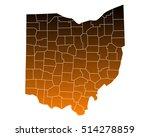 map of ohio   Shutterstock .eps vector #514278859