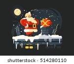 santa claus on roof | Shutterstock .eps vector #514280110