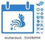 rooster fireworks calendar day...   Shutterstock .eps vector #514280944