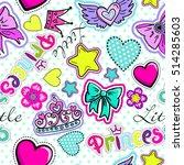 cute seamless pattern for... | Shutterstock .eps vector #514285603