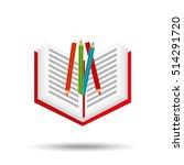 concept school book colors...   Shutterstock .eps vector #514291720