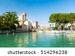 castle in sirmione in lake...   Shutterstock . vector #514296238
