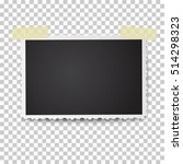 realistic vector photo frame... | Shutterstock .eps vector #514298323